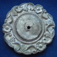 SILVERED ROSETTE DUG LUMPKINS MILL MS